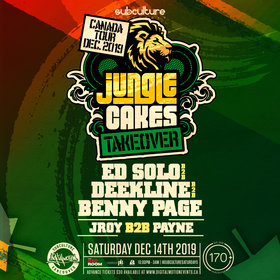 Jungle Cakes Takeover ft Ed Solo b2b Deekline b2b Benny Page @ The Red Room Dec 14 2019 - Jun 5th @ The Red Room