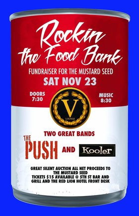 ROCKIN THE FOOD BANK III: Don Peterson & The Push Band , Kooler @ V-lounge Nov 23 2019 - May 29th @ V-lounge