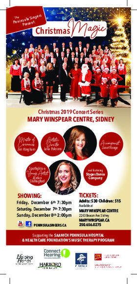 CHRISTMAS MAGIC!: The Peninsula Singers @ The Mary Winspear Centre Dec 6 2019 - Dec 7th @ The Mary Winspear Centre