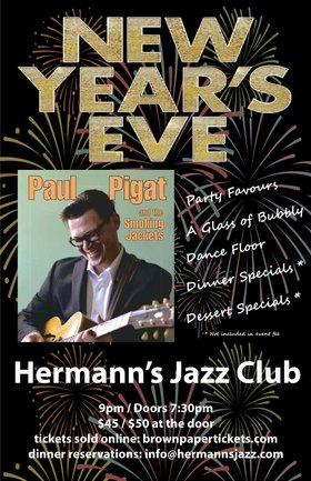 Sold Out - Wait list at the door only: Paul Pigat and the Smoking Jackets @ Hermann's Jazz Club Dec 31 2019 - Oct 21st @ Hermann's Jazz Club