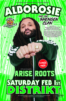 Canadian Debut:: Alborosie & The Shengen Clan, Arise Roots @ Distrikt Feb 1 2020 - Jan 26th @ Distrikt