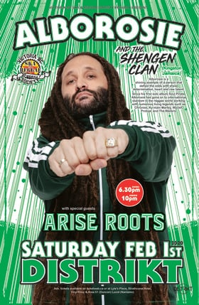 Canadian Debut:: Alborosie & The Shengen Clan, Arise Roots @ Distrikt Feb 1 2020 - Jan 27th @ Distrikt