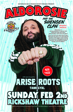 Canadian debut!: Alborosie & The Shengen Clan, Arise Roots, Tank Gyal @ Rickshaw Theatre Feb 2 2020 - Feb 20th @ Rickshaw Theatre