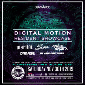 Digital Motion showcase vol6 at SUBculture Saturdays @ The Red Room Nov 30 2019 - Jun 5th @ The Red Room