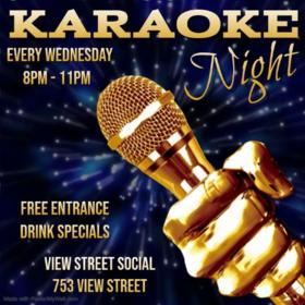 Karaoke Wednesday: Stacey Holloway @ View Street Social Jan 22 2020 - Oct 16th @ View Street Social