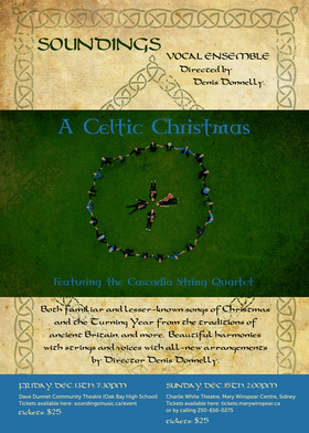 A Celtic Christmas: Soundings Vocal Ensemble @ Charlie White Theatre Dec 15 2019 - Oct 18th @ Charlie White Theatre