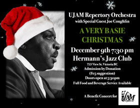 A Very Basie Christmas: UJAM Repertory Orchestra, Joe Coughlin, UJAM @ Hermann's Jazz Club Dec 9 2019 - Sep 20th @ Hermann's Jazz Club