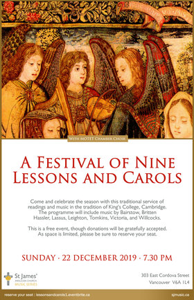 A Festival of Nine Lessons and Carols: Motet @ St James