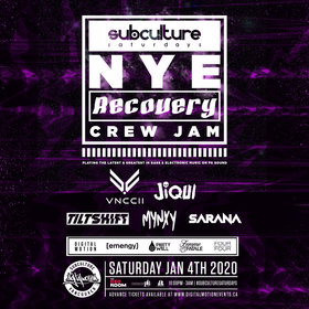 NYE Recovery JAM at SUBculture Saturdays @ The Red Room Jan 4 2020 - Jun 5th @ The Red Room