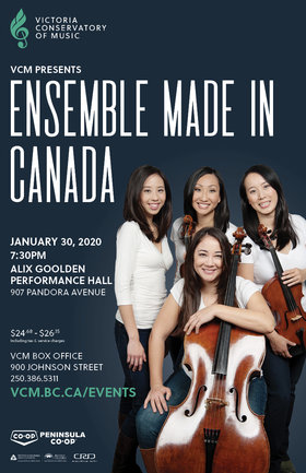Ensemble Made In Canada: Angela Park, Elissa Lee, Sharon Wei, Trey Lee @ Robin and Winifred Wood Recital Hall Jan 30 2020 - Jan 25th @ Robin and Winifred Wood Recital Hall