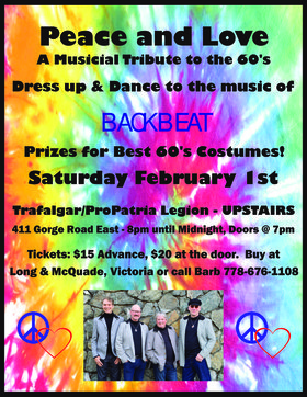 Dance-Backbeat-Sat Feb1,2020-Pro Pat Legion(upstairs): BACKBEAT @ Trafalgar Pro Patria Legion Br 292 Feb 1 2020 - Jan 25th @ Trafalgar Pro Patria Legion Br 292
