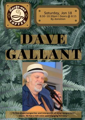 Dave Gallant @ Gorge-ous Coffee Jan 18 2020 - Jan 19th @ Gorge-ous Coffee