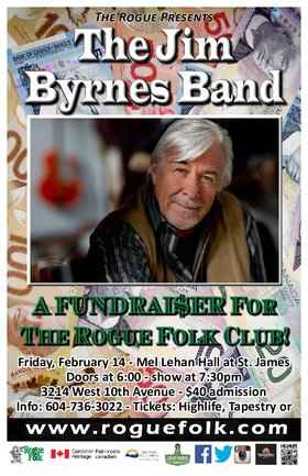 Jim Byrnes Band @ Mel Lehan Hall at St. James Feb 14 2020 - Feb 25th @ Mel Lehan Hall at St. James