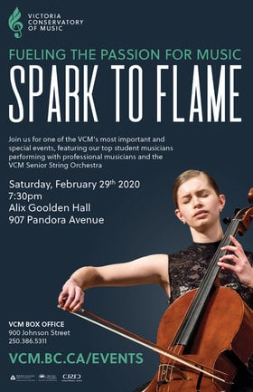 Spark to Flame Student Showcase Concert @ Alix Goolden Performance Hall Feb 29 2020 - Jan 25th @ Alix Goolden Performance Hall