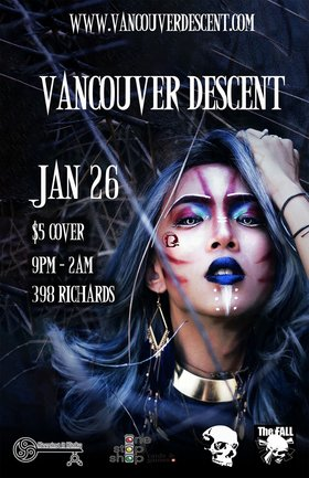 Descent January Gothic Party @ The Red Room Jan 26 2020 - Jun 5th @ The Red Room