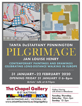 Pilgrimage Art Exhibition Opening: Tanta DeStaffany Pennington, Jan Louise Henry @ 600 Richmond Avenue Jan 31 2020 - Nov 27th @ 600 Richmond Avenue