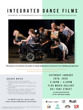 Integrated Dance Film Screening @ FLUX MEDIA GALLERY Jan 25 2020 - Jan 19th @ FLUX MEDIA GALLERY