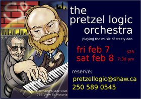 Pretzel Logic Orchestra @ Hermann's Jazz Club Feb 7 2020 - Oct 30th @ Hermann's Jazz Club