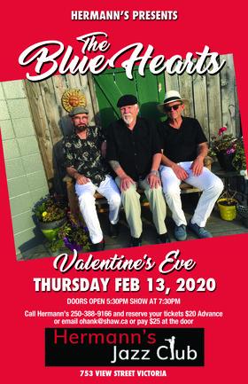The Blue Hearts @ Hermann's Jazz Club Feb 13 2020 - Oct 17th @ Hermann's Jazz Club
