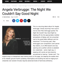 (Album Review) Angela Verbrugge: The Night We Couldn't Say Good Night