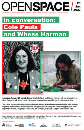In conversation: Cole Pauls and Whess Harman @ Open Space Jan 25 2020 - Jan 25th @ Open Space