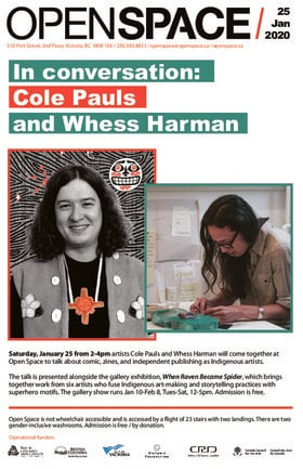 In conversation: Cole Pauls and Whess Harman @ Open Space Jan 25 2020 - Jan 19th @ Open Space
