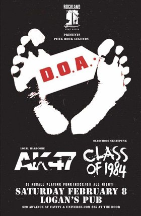 DOA with AK47, Class of 1984 and DJ N8Ball: DOA, Ak-47, Class of 1984, DJ N8Ball  @ Logan
