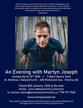 Martyn Joseph @ St Matthias Church Mar 15 2020 - Oct 16th @ St Matthias Church