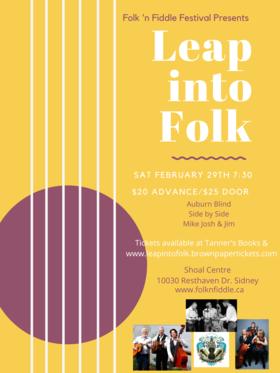 Leap into Folk: Auburn Blind  (Victoria), Side By Side, Mike Josh & Jim  (Victoria) @ Shoal Activity Centre Feb 29 2020 - Oct 27th @ Shoal Activity Centre