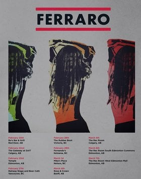 Ferraro @ The Rubber Boot Club Feb 28 2020 - Oct 1st @ The Rubber Boot Club