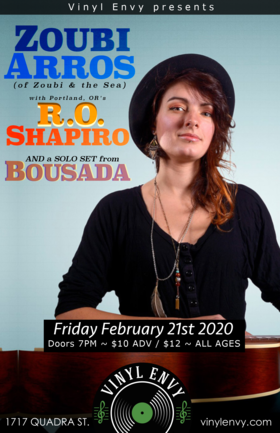 Zoubi Arros, R.O. Shapiro  (San Diego, CA), BOUSADA (Solo Set) @ Vinyl Envy Feb 21 2020 - Aug 6th @ Vinyl Envy