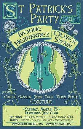 St. Patrick's Day Party: Oliver Swain & Ivonne Hernandez @ Hermann's Jazz Club Mar 15 2020 - Oct 20th @ Hermann's Jazz Club