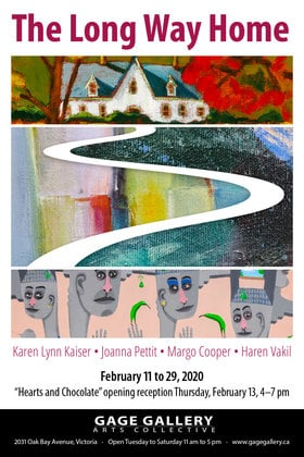 Haren Vakil, Margo Cooper, Joanne Pettit, Karen Lynn Kaiser @ Gage Gallery Arts Collective Feb 11 2020 - Feb 20th @ Gage Gallery Arts Collective