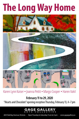 Haren Vakil, Margo Cooper, Joanne Pettit, Karen Lynn Kaiser @ Gage Gallery Arts Collective Feb 11 2020 - Feb 24th @ Gage Gallery Arts Collective