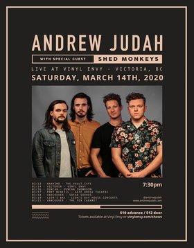 Andrew Judah (Kelowna, BC), Shed Monkeys @ Vinyl Envy Mar 14 2020 - Sep 18th @ Vinyl Envy