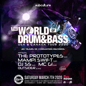 The World of Drum & Bass Tour 2020 - Vancouver @ The Red Room Mar 7 2020 - Jun 5th @ The Red Room