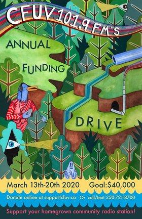 CFUV Funding Drive Kick-Off 2020: Rhea George (of Shed Monkeys), Sanford & Powell, Fond @ Vinyl Envy Mar 12 2020 - Sep 18th @ Vinyl Envy