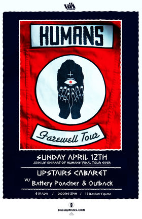 Postponed: Humans, Outback , Battery Poacher @ The Upstairs Cabaret Apr 12 2020 - Apr 1st @ The Upstairs Cabaret