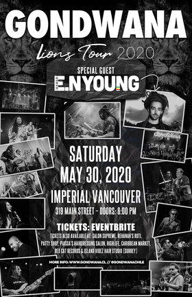 GONDWANA  , E.N YOUNG @ The Imperial May 30 2020 - Jul 12th @ The Imperial