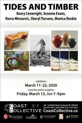 Tides & Timber @ Coast Collective Art Centre Mar 11 2020 - Apr 4th @ Coast Collective Art Centre