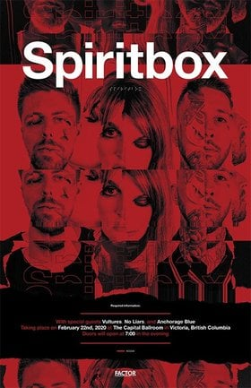 Spiritbox, Vultures, No Liars, Anchorage blue @ Capital Ballroom Feb 22 2020 - Apr 3rd @ Capital Ballroom