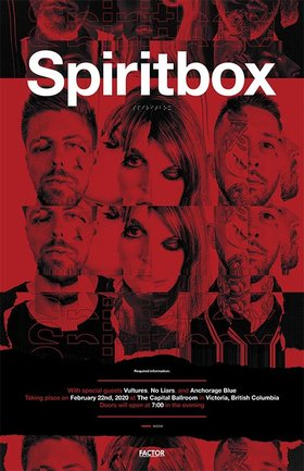 Spiritbox, Vultures, No Liars, Anchorage blue @ Capital Ballroom Feb 22 2020 - May 13th @ Capital Ballroom