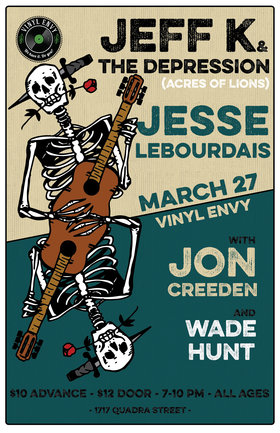 Jeff K and the Depression  (of Acres of Lions), Jesse LeBourdais (Vancouver, BC), Wade Hunt (Victoria, BC), Jon Creeden (Ottawa, ON) @ Vinyl Envy Mar 27 2020 - Sep 18th @ Vinyl Envy