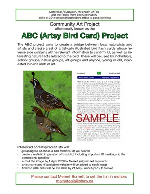 Call For Artists: Artsy Bird Cards (ABC) project