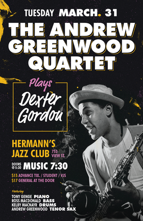 Andrew Greenwood Presents the music of Dexter Gordon @ Hermann