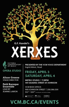 Opera Studio presents Xerxes @ Metro Studio Apr 3 2020 - Apr 1st @ Metro Studio