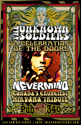 The Doors & Nirvana Tributes: The Unknown Soldiers, Nevermind @ Pub 340 Apr 25 2020 - Apr 5th @ Pub 340