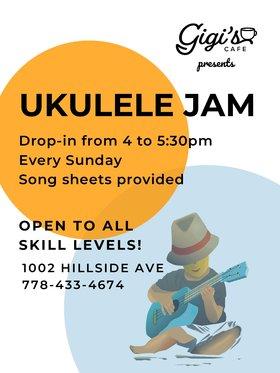 Ukulele Jam: All skills levels welcome! @ Gigi's Cafe May 3 2020 - Oct 23rd @ Gigi's Cafe
