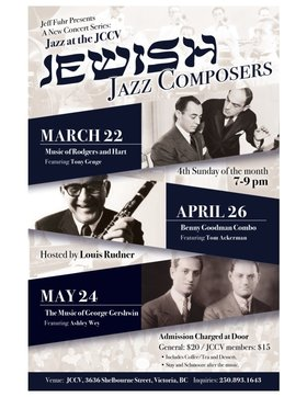Jazz at the JCCV: The Music of Rodgers and Hart - Featuring Tony Genge: Tony Genge (Piano), Louis Rudner (Bass), Nicholas Bracewell  (Drums) @ Jewish Community Center of Victoria Mar 22 2020 - Jan 21st @ Jewish Community Center of Victoria