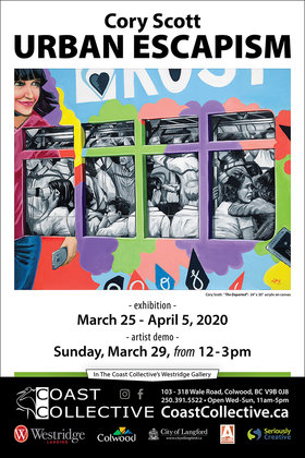 Urban Escapism at Coast Collective Gallery: Cory Scott @ Coast Collective Art Centre Mar 25 2020 - Apr 1st @ Coast Collective Art Centre